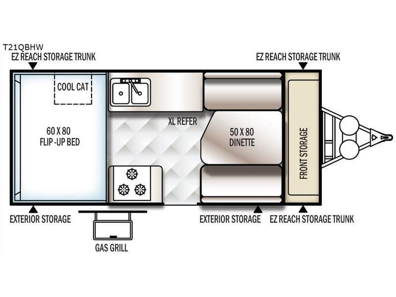 Flagstaff Hard Side High Wall Series 21QBHW Floorplan Image