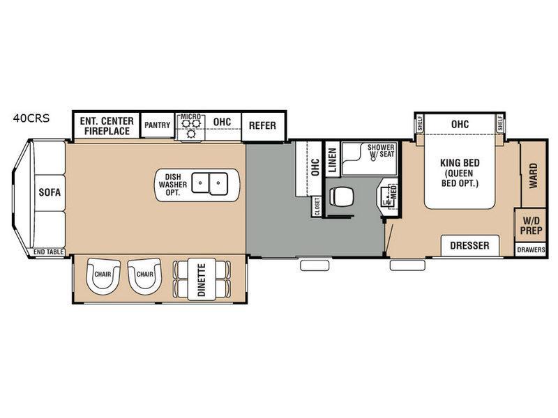 Cedar Creek Cottage 40CRS Floorplan Image