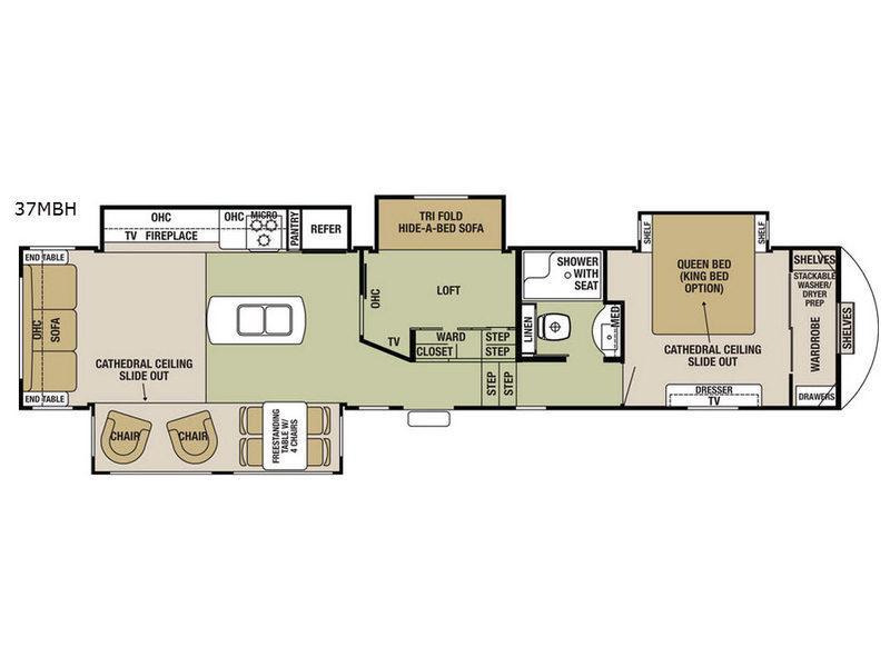Cedar Creek Silverback 37MBH Floorplan Image