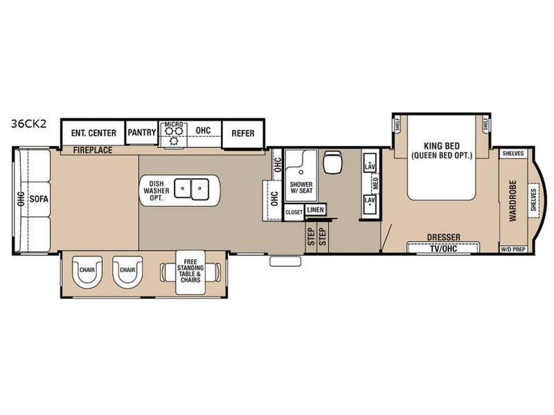 Cedar Creek Hathaway Edition 36CK2 Floorplan Image