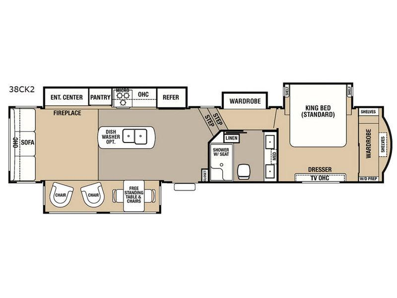 Cedar Creek Hathaway Edition 38CK2 Floorplan Image