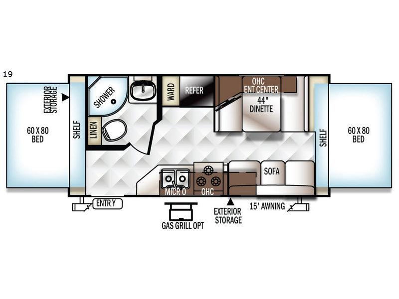 Flagstaff Shamrock 19 Floorplan Image