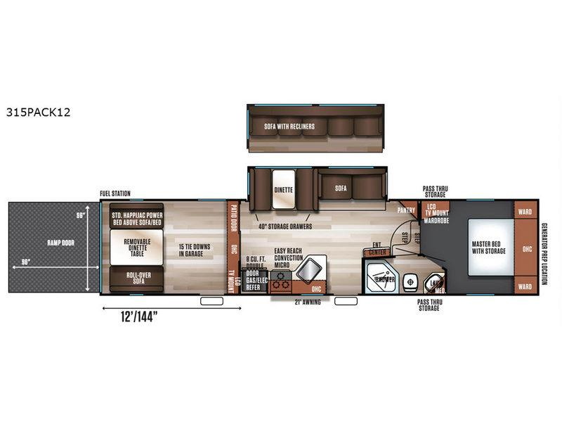 Cherokee Wolf Pack 315PACK12 Floorplan Image