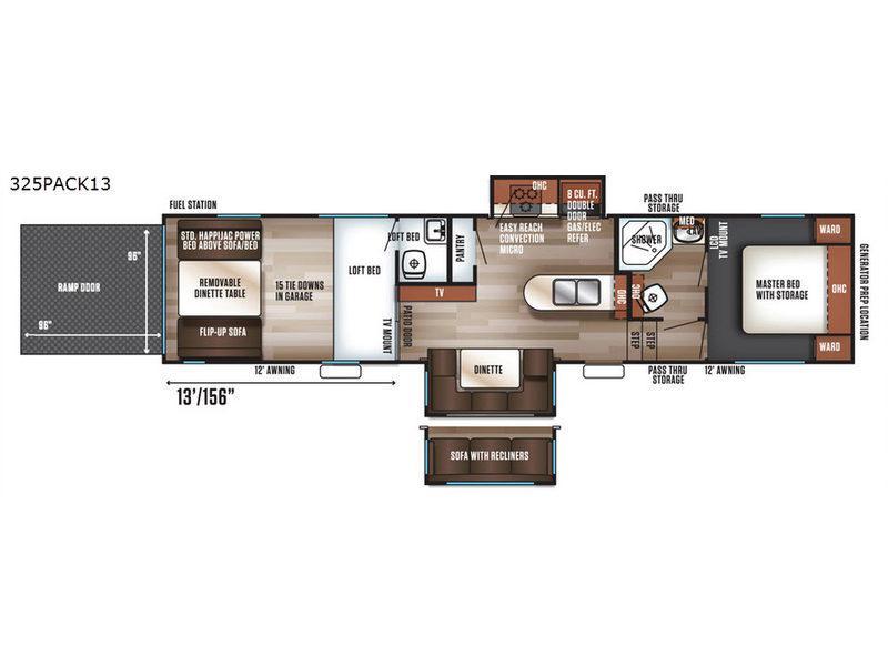Cherokee Wolf Pack 325PACK13 Floorplan Image