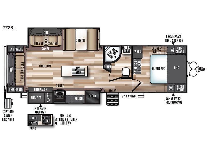 Salem Hemisphere Lite 272RL Floorplan Image
