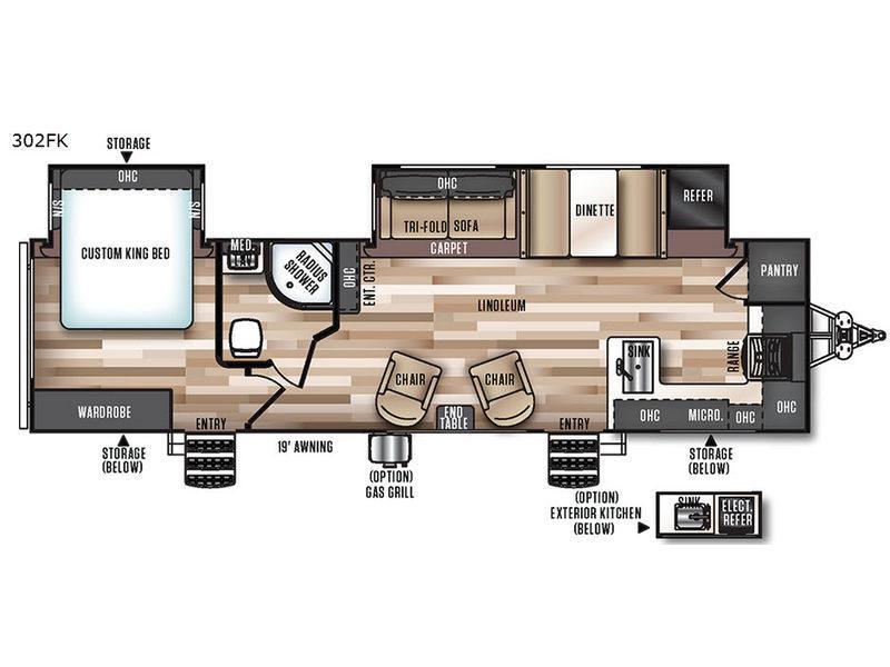 Salem Hemisphere Lite 302FK Floorplan Image