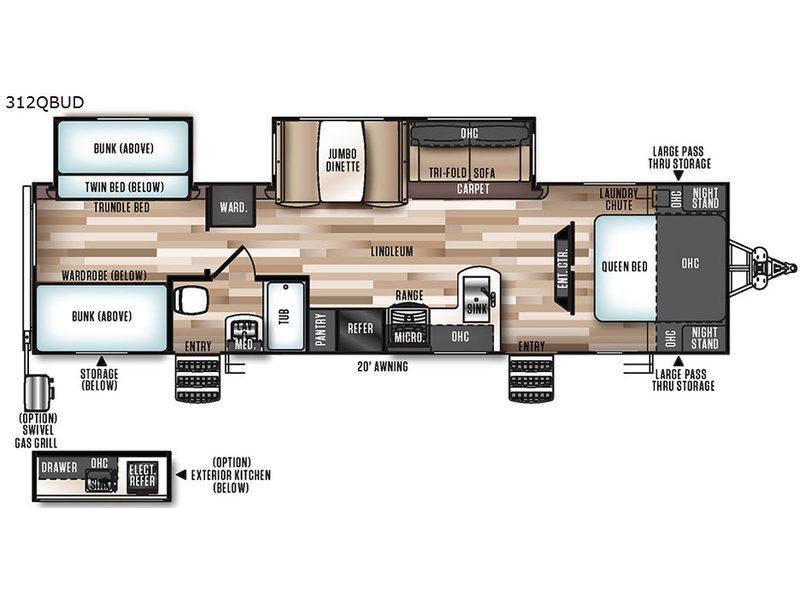 Salem Hemisphere Lite 312QBUD Floorplan Image