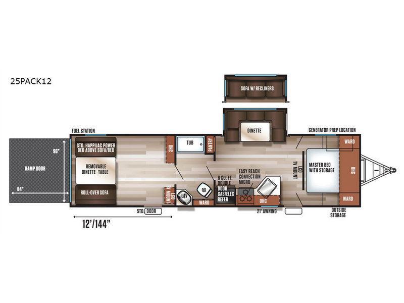 Cherokee Wolf Pack 25PACK12 Floorplan Image