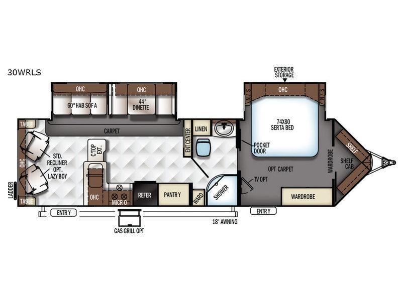 Flagstaff V-Lite 30WRLS Floorplan Image