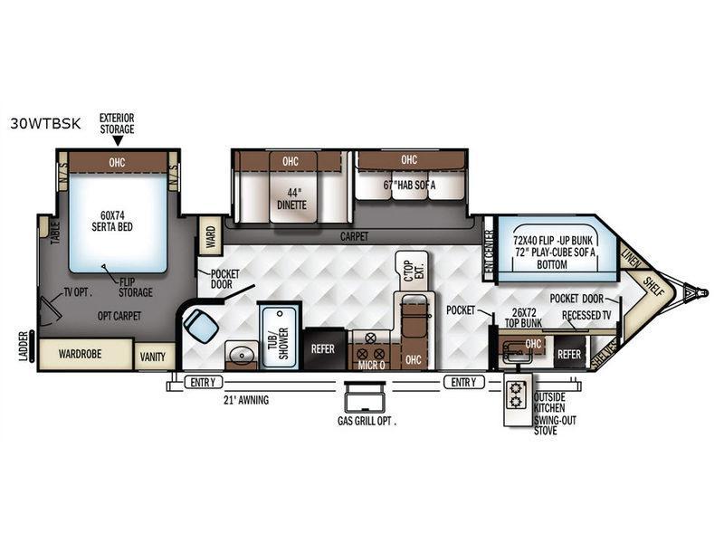 Flagstaff V-Lite 30WTBSK Floorplan Image