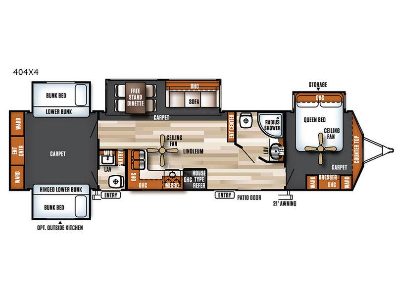 Salem Villa Series 404X4 Estate Floorplan Image