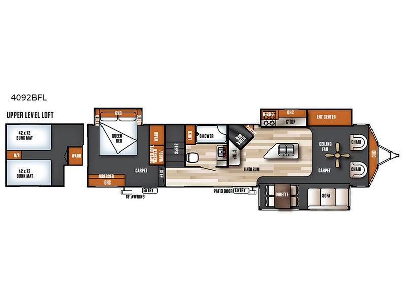 Salem Villa Series 4092BFL Estate Floorplan Image