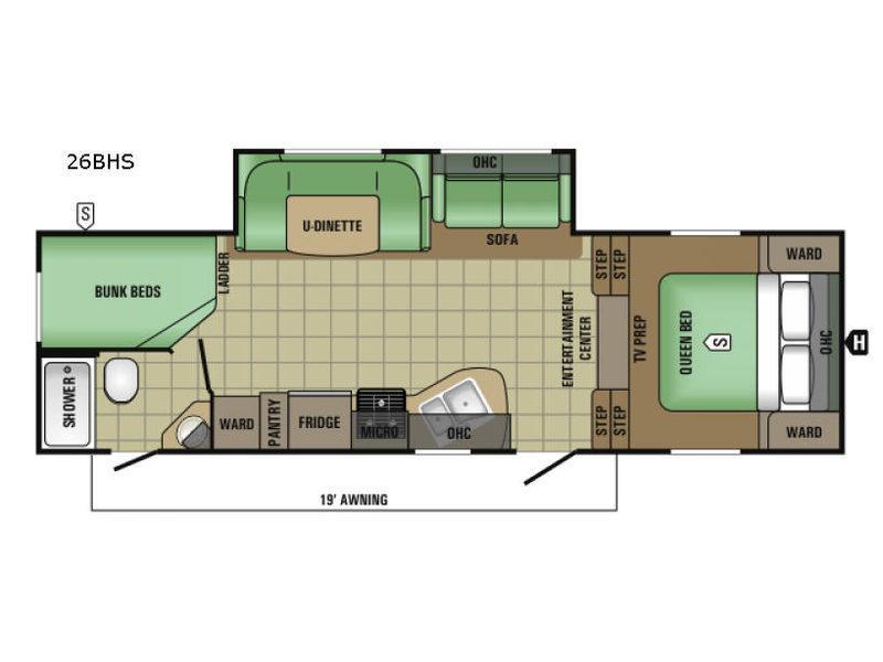 AR-ONE MAXX 26BHS Floorplan Image