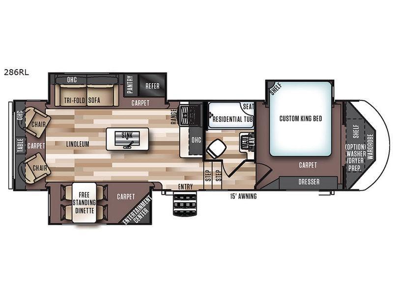 Salem Hemisphere Lite 286RL Floorplan Image