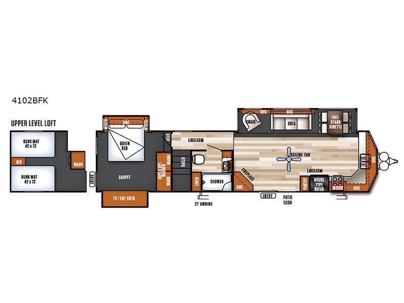 Salem Villa Series 4102BFK Estate Floorplan Image