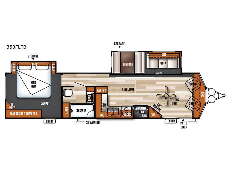 Salem Villa Series 353FLFB Classic Floorplan Image