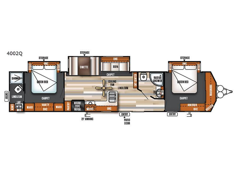 Salem Villa Series 4002Q Classic Floorplan Image