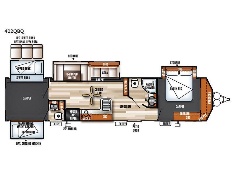 Salem Villa Series 402QBQ Classic Floorplan Image