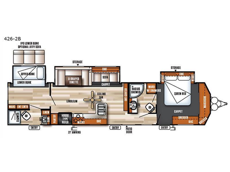 Salem Villa Series 426-2B Classic Floorplan Image