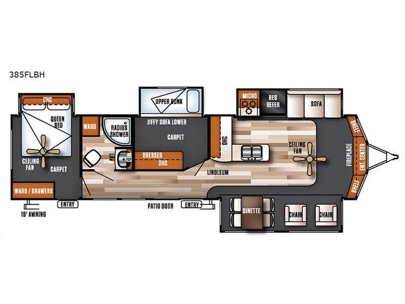 Salem Villa Series 385FLBH Estate Floorplan Image
