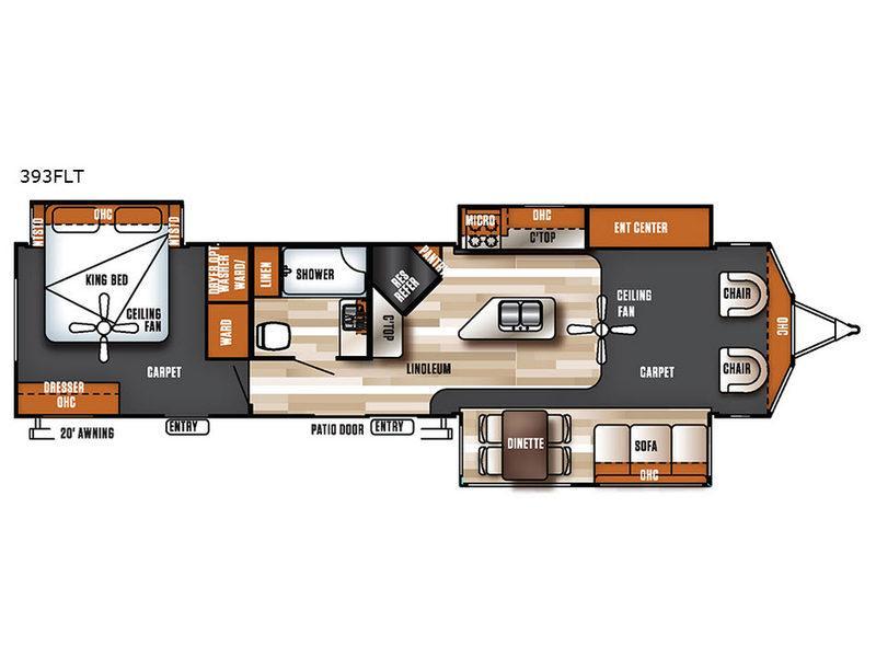 Salem Villa Series 393FLT Estate Floorplan Image