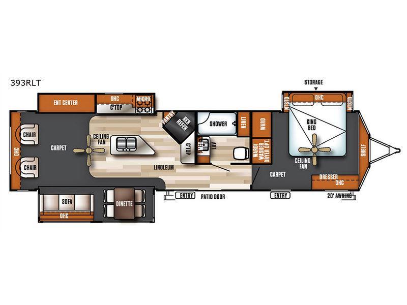 Salem Villa Series 393RLT Estate Floorplan Image