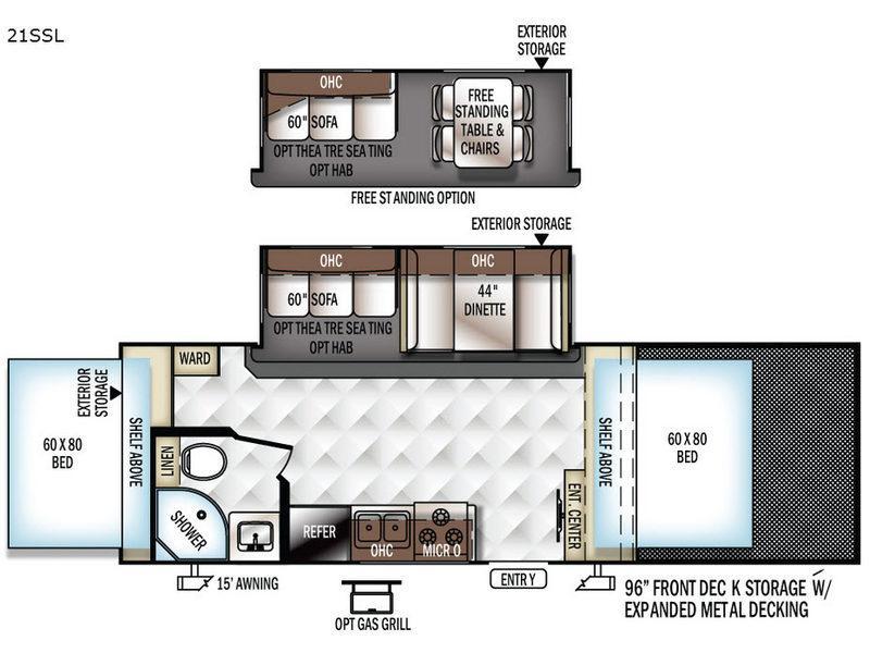 Rockwood Roo 21SSL Floorplan Image