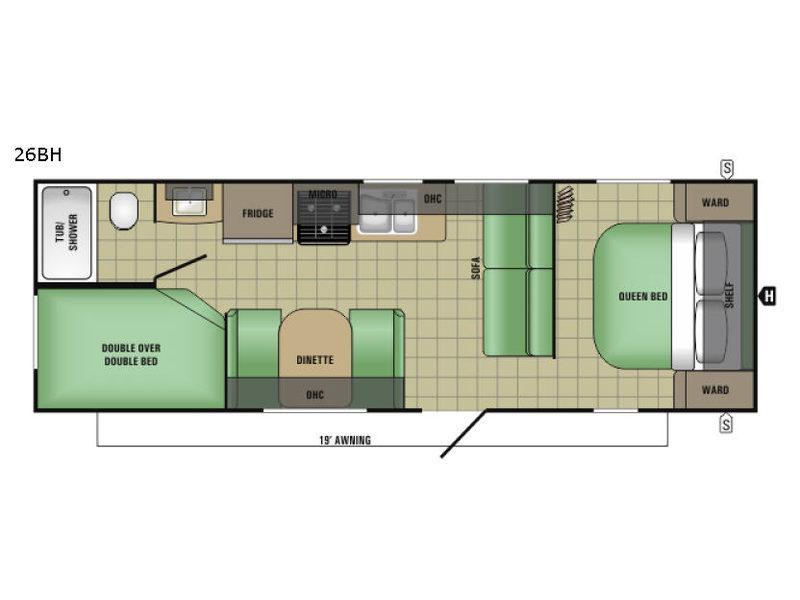 AR-ONE MAXX 26BH Floorplan Image