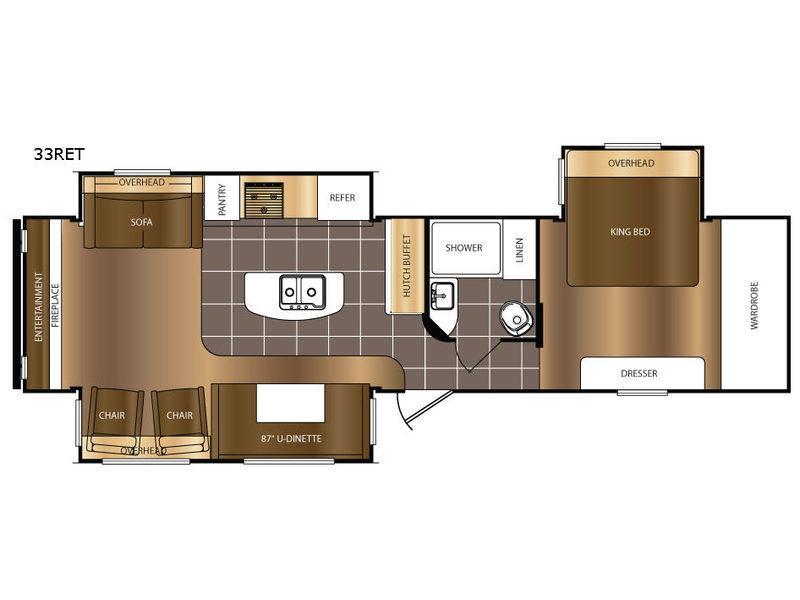 Avenger 33RET Floorplan Image