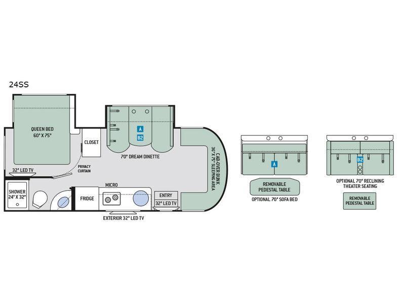 Siesta Sprinter 24SS Floorplan Image