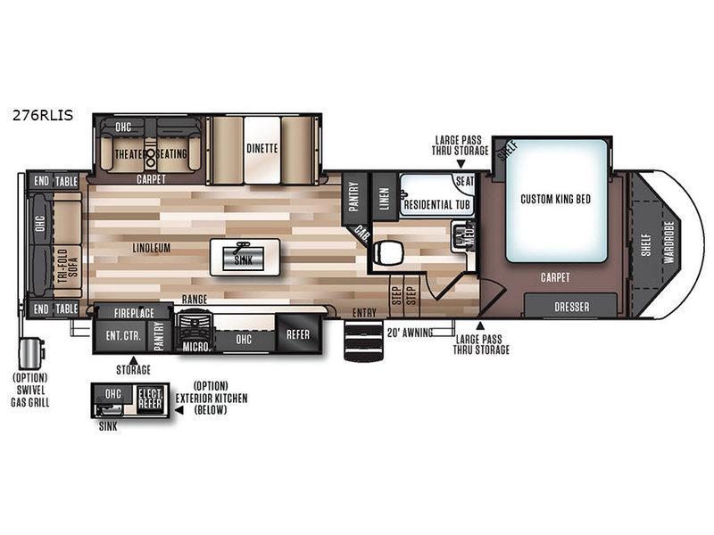 Wildwood Heritage Glen 276RLIS Floorplan Image