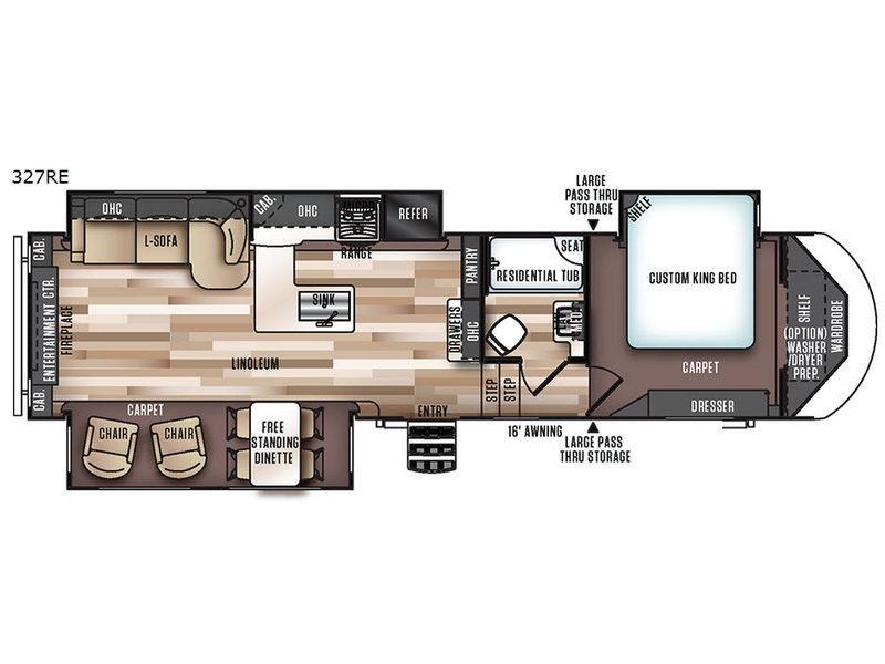 Wildwood Heritage Glen 327RE Floorplan Image