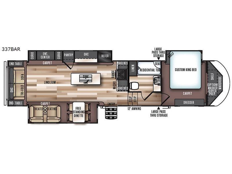Wildwood Heritage Glen 337BAR Floorplan Image