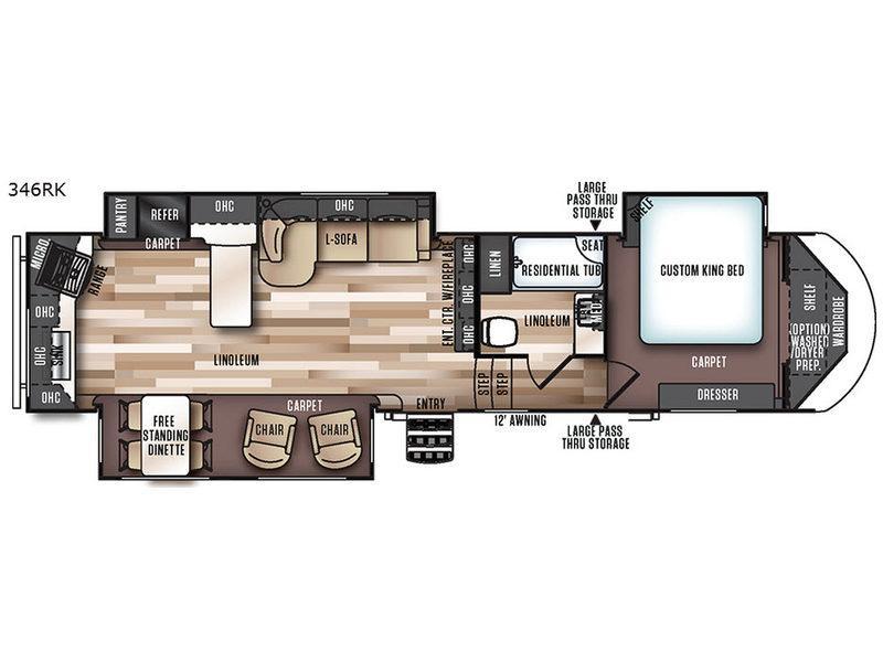Wildwood Heritage Glen 346RK Floorplan Image