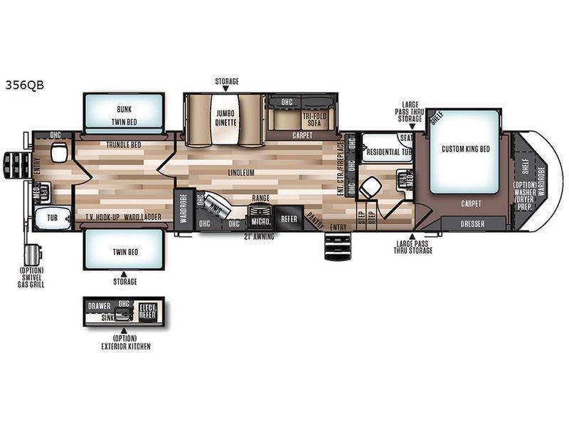 Wildwood Heritage Glen 356QB Floorplan Image