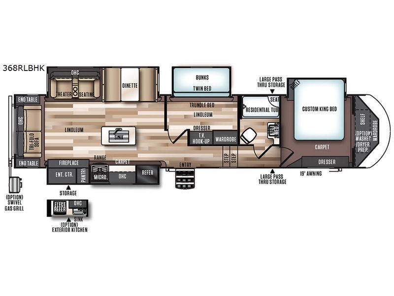 Wildwood Heritage Glen 368RLBHK Floorplan Image