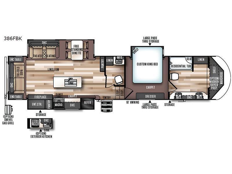 Wildwood Heritage Glen 386FBK Floorplan Image