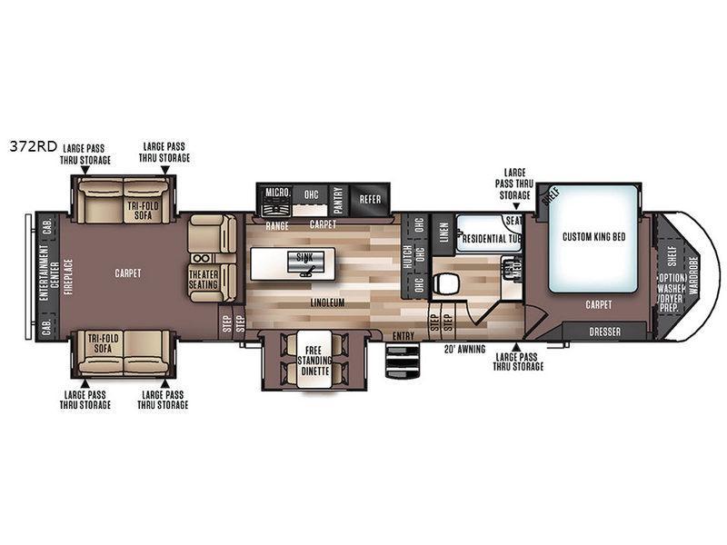 Wildwood Heritage Glen 372RD Floorplan Image