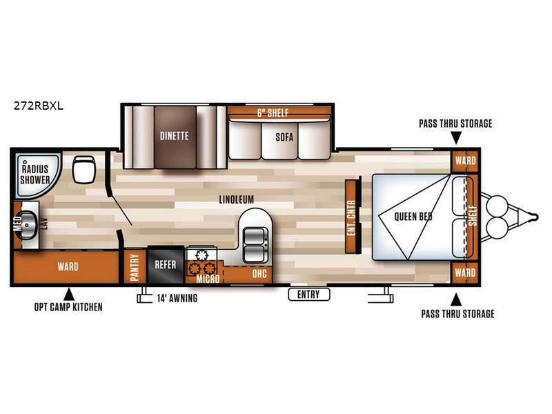 Salem Cruise Lite 272RBXL Floorplan Image