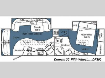 Used 2008 Carriage Domani Df300 Fifth Wheel At General Rv