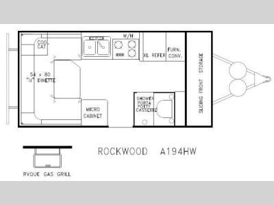 Used 2013 Forest River RV Rockwood Hard Side Series A194HW