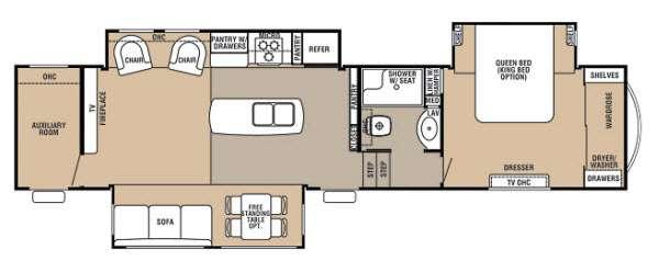 Used 2 Bedroom Fifth Wheel Rv - Bedroom Style Ideas
