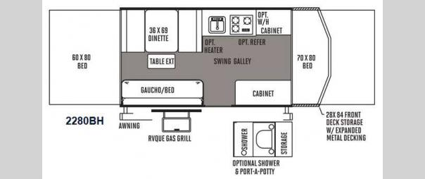 New 2015 Forest River RV Rockwood Freedom Series 2280BH