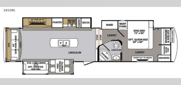 New 2016 Forest River Rv Cardinal 3850rl Fifth Wheel At
