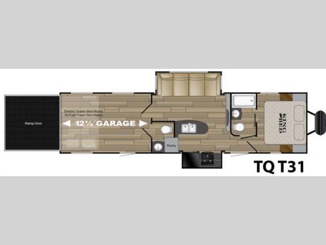 New 2017 heartland torque xlt tq t31 toy hauler travel for 12 foot travel trailer floor plans
