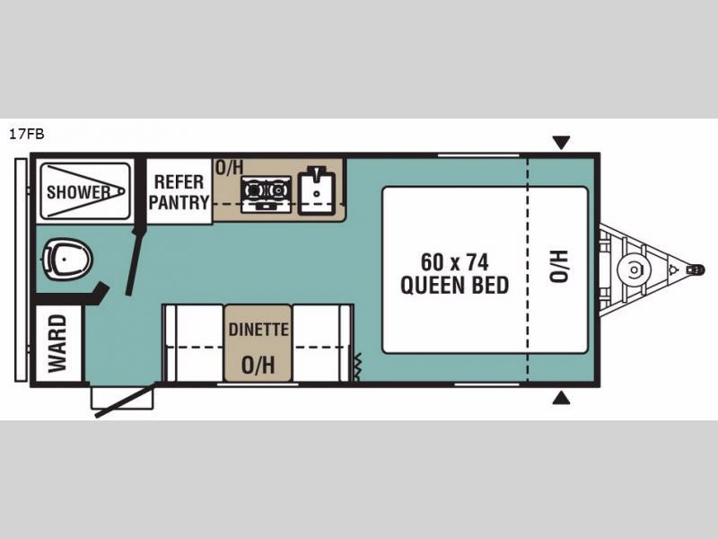 UltraLite 17FB – Rear Bedroom Travel Trailer Floor Plans