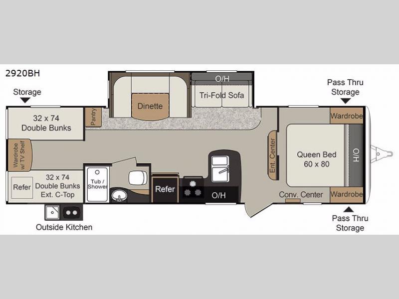 Rv Floor Plans With Bunk Beds Part - 19: Floorplan Title