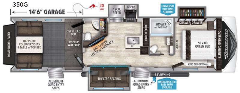 Phenomenal Momentum G Class 350G Toy Hauler Fifth Wheel Creativecarmelina Interior Chair Design Creativecarmelinacom