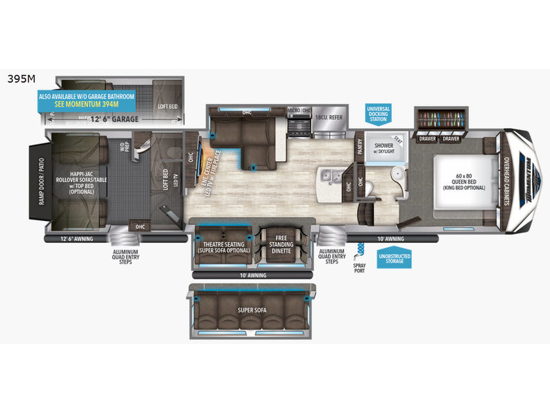 Incredible New 2017 Grand Design Momentum M Class 395M Toy Hauler Fifth Creativecarmelina Interior Chair Design Creativecarmelinacom