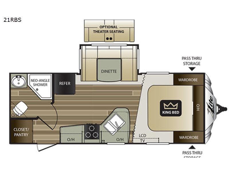 Cougar XLite 21RBS – 30 Ft Travel Trailer Floor Plans